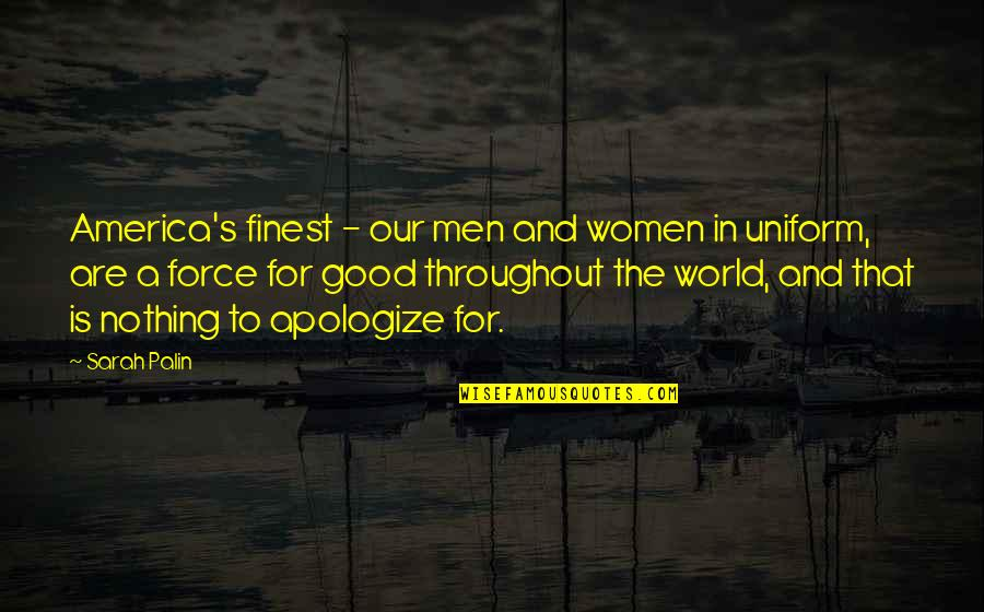 Navy Uniform Quotes By Sarah Palin: America's finest - our men and women in