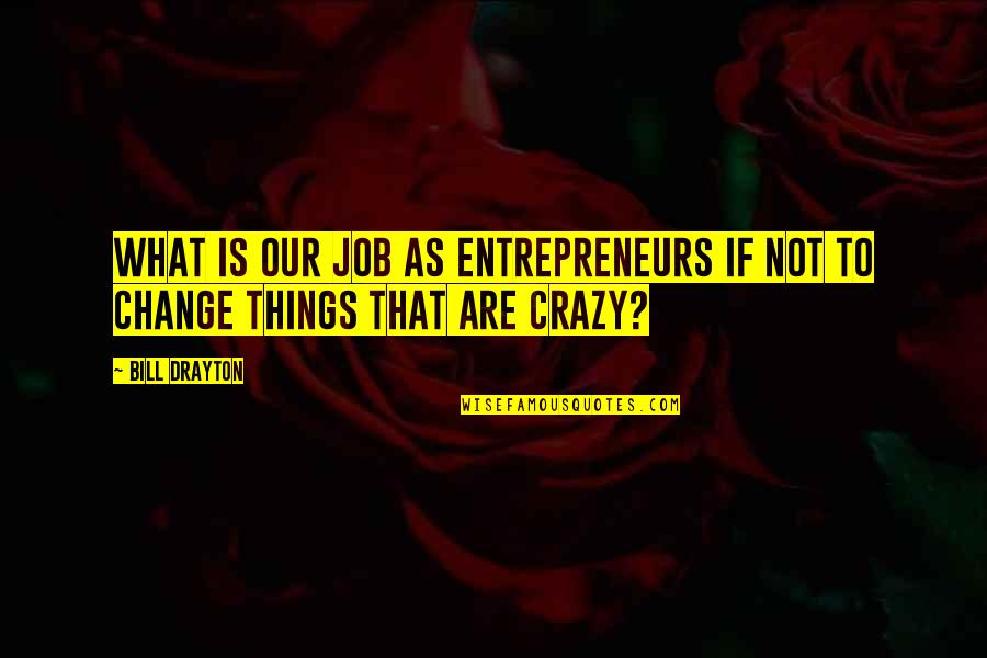Ncis Gut Check Quotes By Bill Drayton: What is our job as entrepreneurs if not