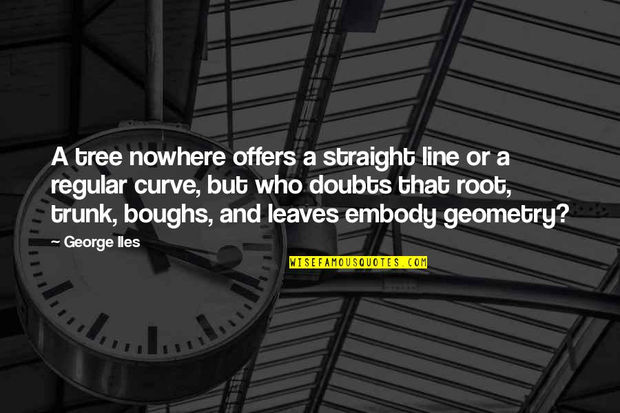 Nctm Quotes By George Iles: A tree nowhere offers a straight line or