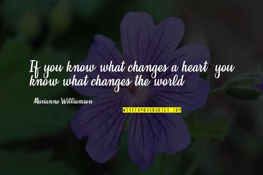 Nctm Quotes By Marianne Williamson: If you know what changes a heart, you