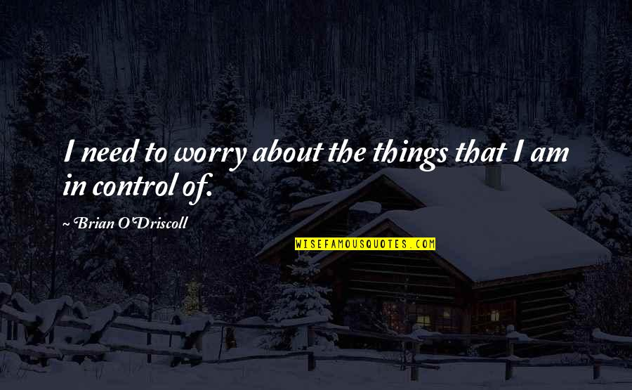 Need Not Worry Quotes By Brian O'Driscoll: I need to worry about the things that