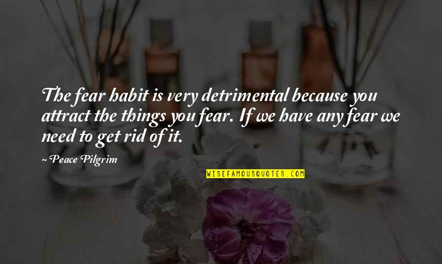 Need Some Peace Quotes By Peace Pilgrim: The fear habit is very detrimental because you