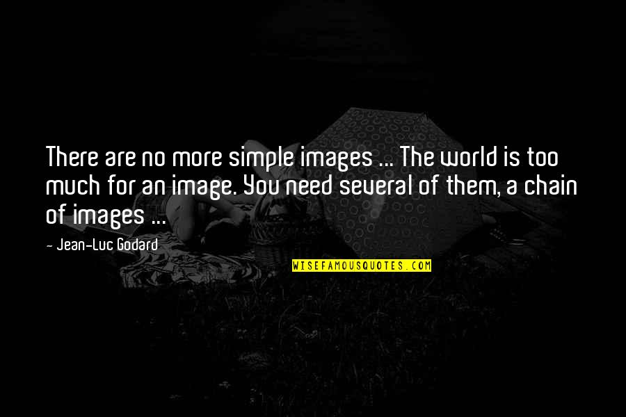 Need You More Quotes By Jean-Luc Godard: There are no more simple images ... The