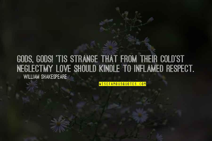 Neglect In Love Quotes By William Shakespeare: Gods, gods! 'tis strange that from their cold'st