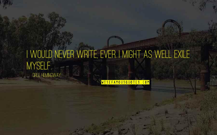 Neglecting Mothers Quotes By Dree Hemingway: I would never write, ever. I might as