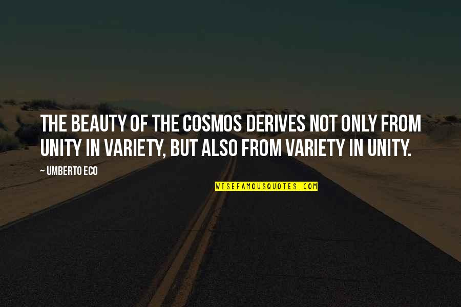 Neighbourhood Friends Quotes By Umberto Eco: The beauty of the cosmos derives not only