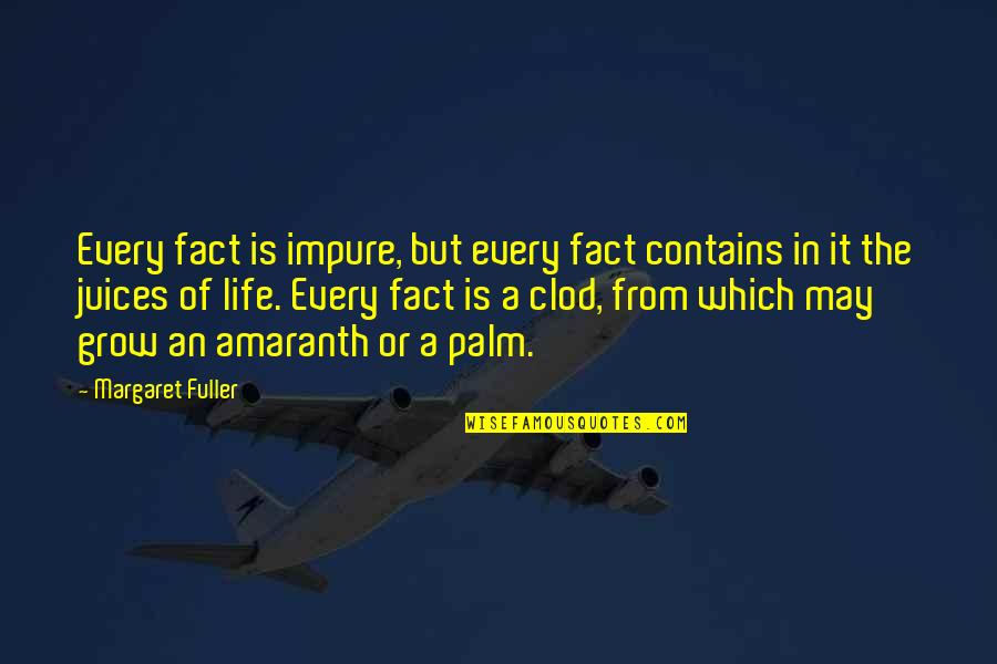 Ner'zhul Quotes By Margaret Fuller: Every fact is impure, but every fact contains
