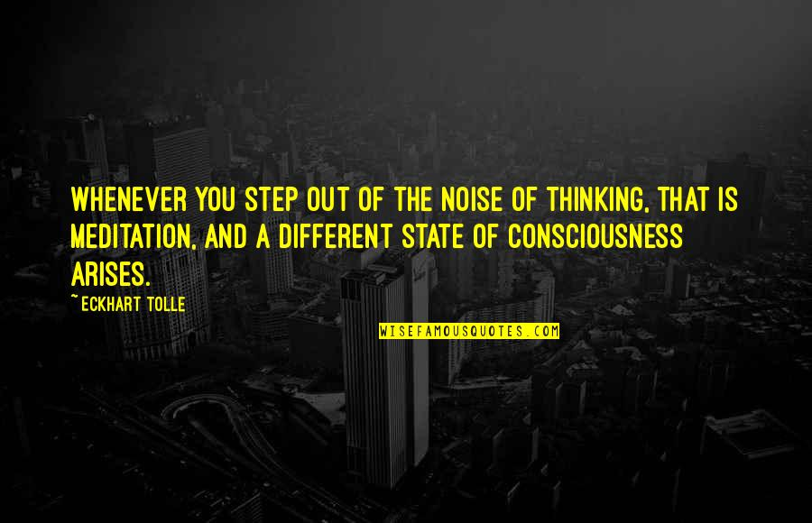 Nestor Kirchner Quotes By Eckhart Tolle: Whenever you step out of the noise of