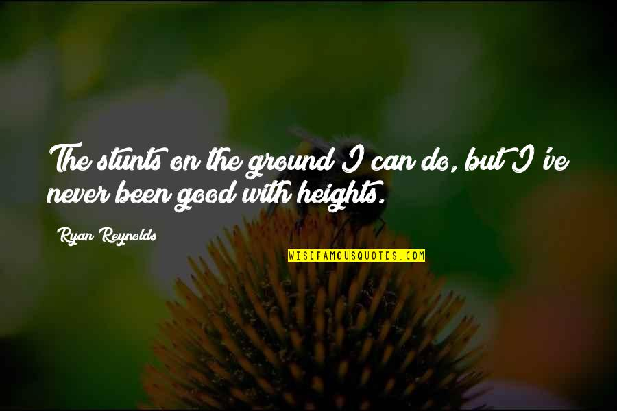 Never Do Good Quotes By Ryan Reynolds: The stunts on the ground I can do,