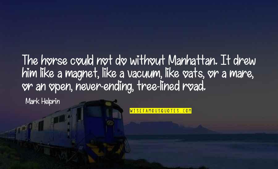 Never Ending Road Quotes By Mark Helprin: The horse could not do without Manhattan. It