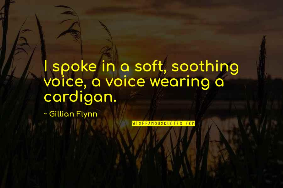 Never Forgetting Who Was There For You Quotes By Gillian Flynn: I spoke in a soft, soothing voice, a