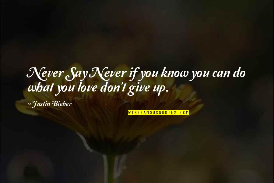 Never Give Quotes By Justin Bieber: Never Say Never if you know you can