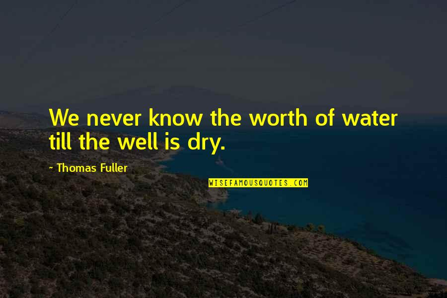 Never Granted Quotes By Thomas Fuller: We never know the worth of water till
