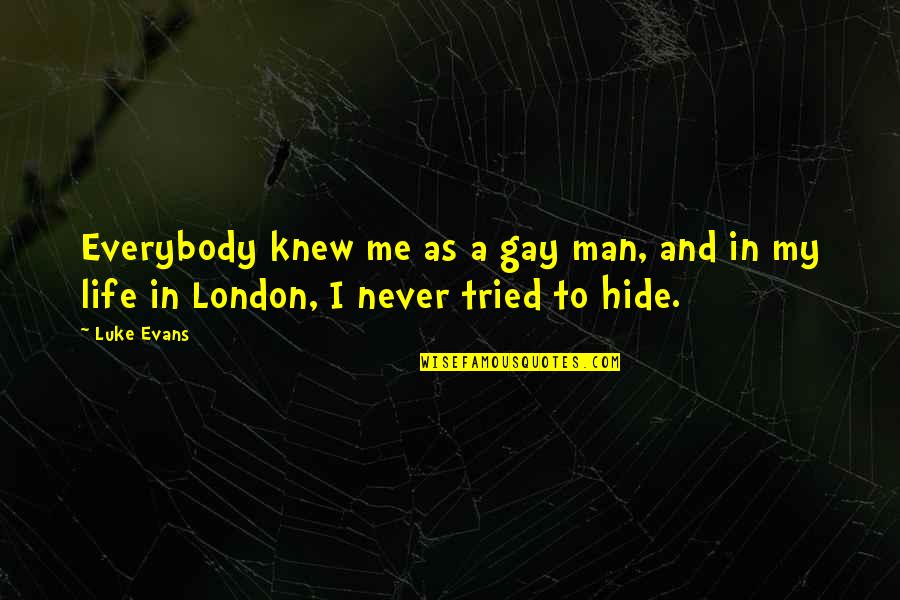 Never Knew Me Quotes By Luke Evans: Everybody knew me as a gay man, and