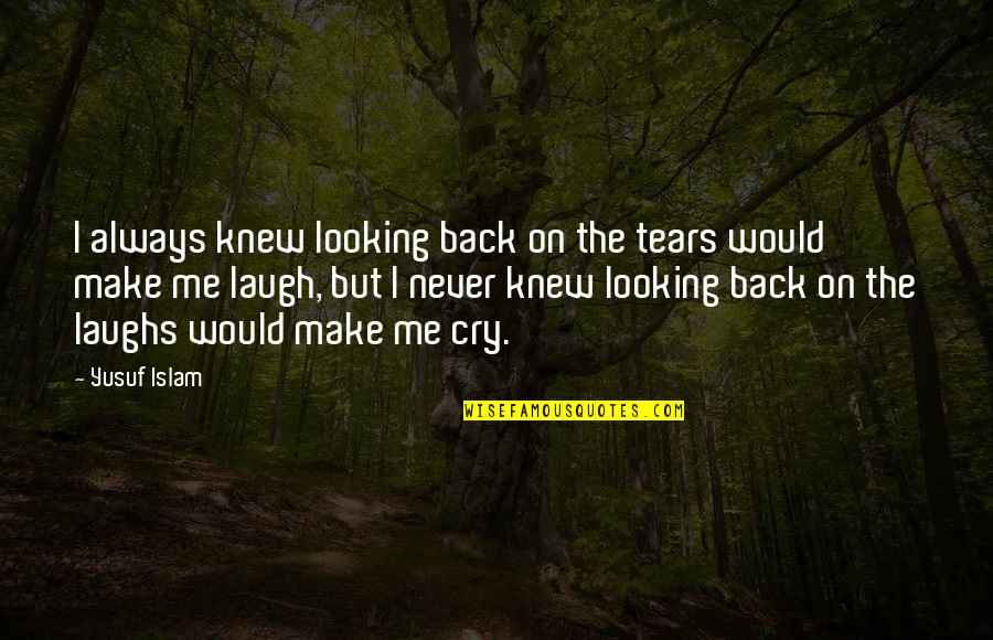 Never Knew Me Quotes By Yusuf Islam: I always knew looking back on the tears