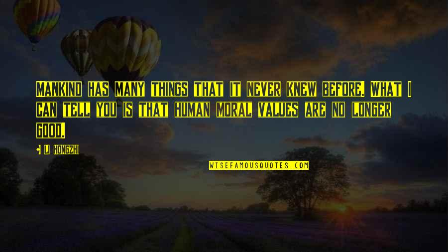 Never Knew You Quotes By Li Hongzhi: Mankind has many things that it never knew