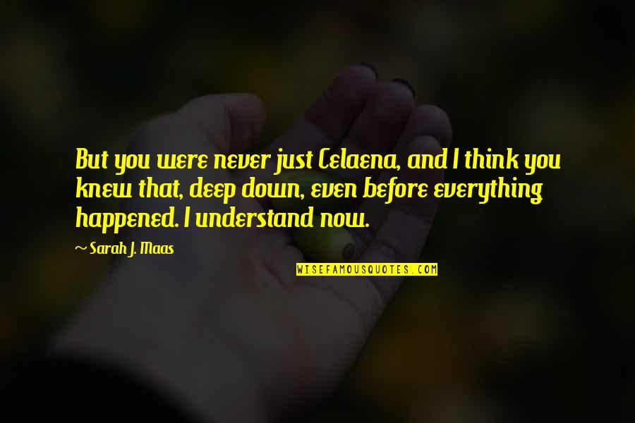 Never Knew You Quotes By Sarah J. Maas: But you were never just Celaena, and I
