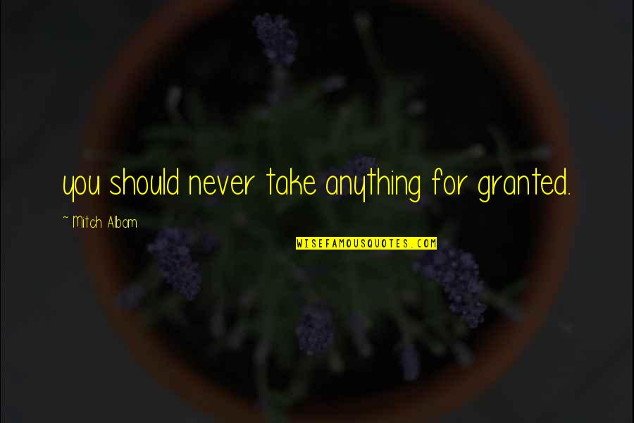 Never Take You For Granted Quotes Top 48 Famous Quotes About Never
