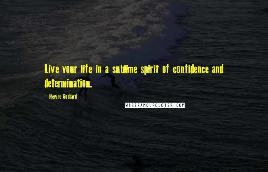 Neville Goddard quotes: Live your life in a sublime spirit of confidence and determination.