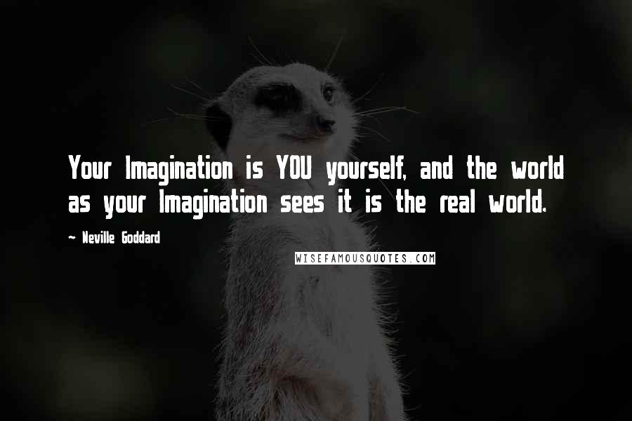 Neville Goddard quotes: Your Imagination is YOU yourself, and the world as your Imagination sees it is the real world.