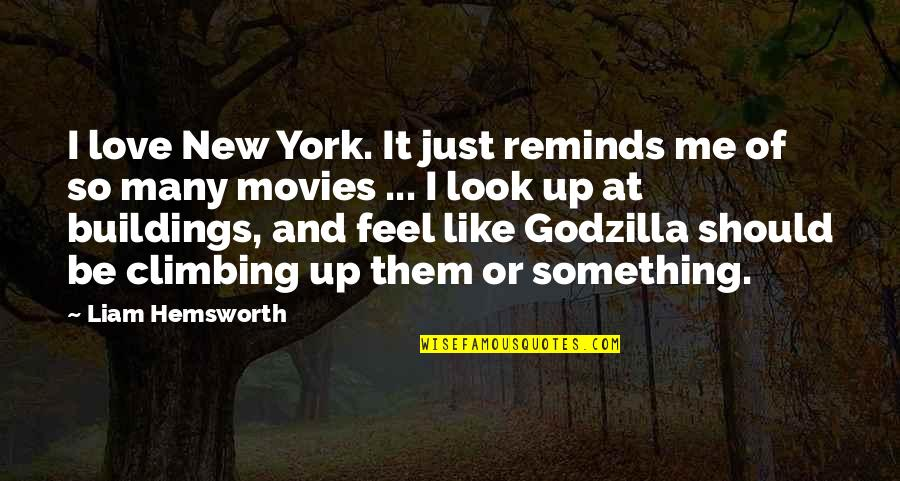 New Buildings Quotes By Liam Hemsworth: I love New York. It just reminds me