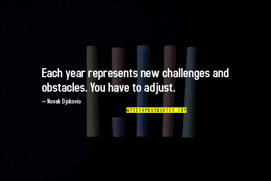 New Challenges Quotes By Novak Djokovic: Each year represents new challenges and obstacles. You