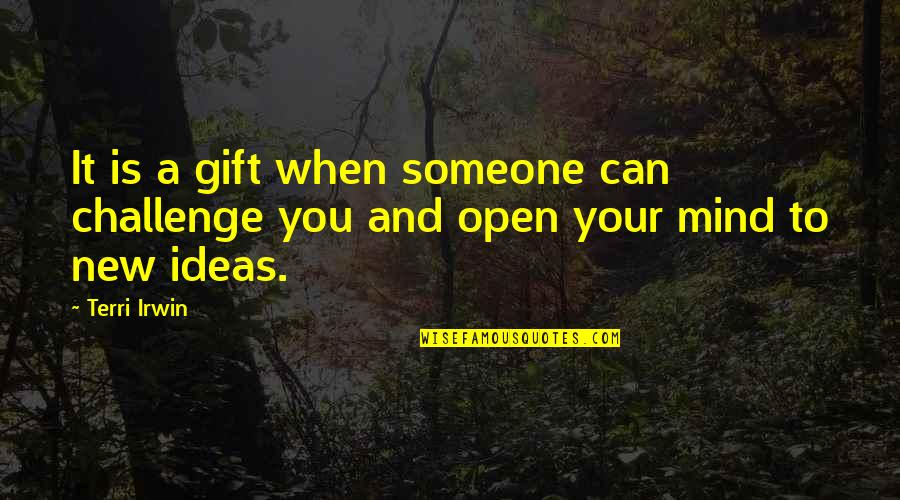 New Challenges Quotes By Terri Irwin: It is a gift when someone can challenge