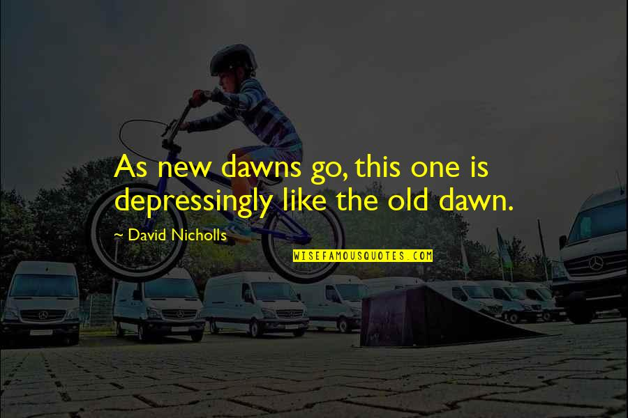 New Dawn Quotes By David Nicholls: As new dawns go, this one is depressingly