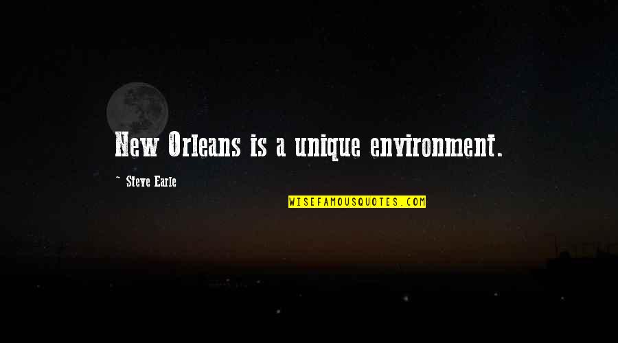 New Environment Quotes By Steve Earle: New Orleans is a unique environment.
