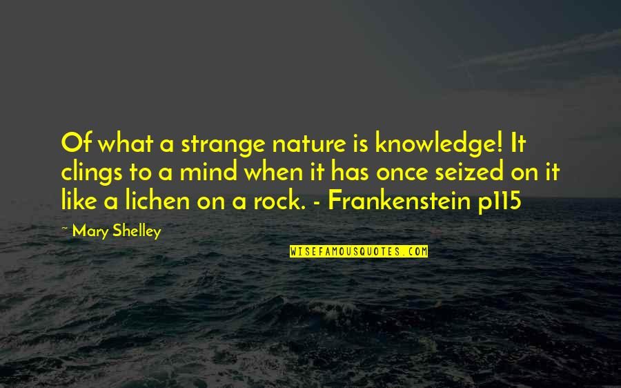New Kidney In Town Quotes By Mary Shelley: Of what a strange nature is knowledge! It