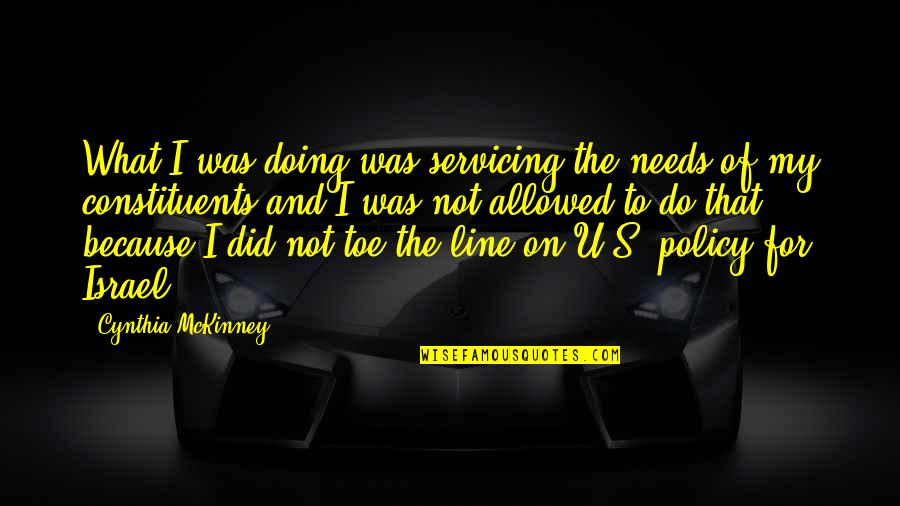 New Leaf Quotes By Cynthia McKinney: What I was doing was servicing the needs