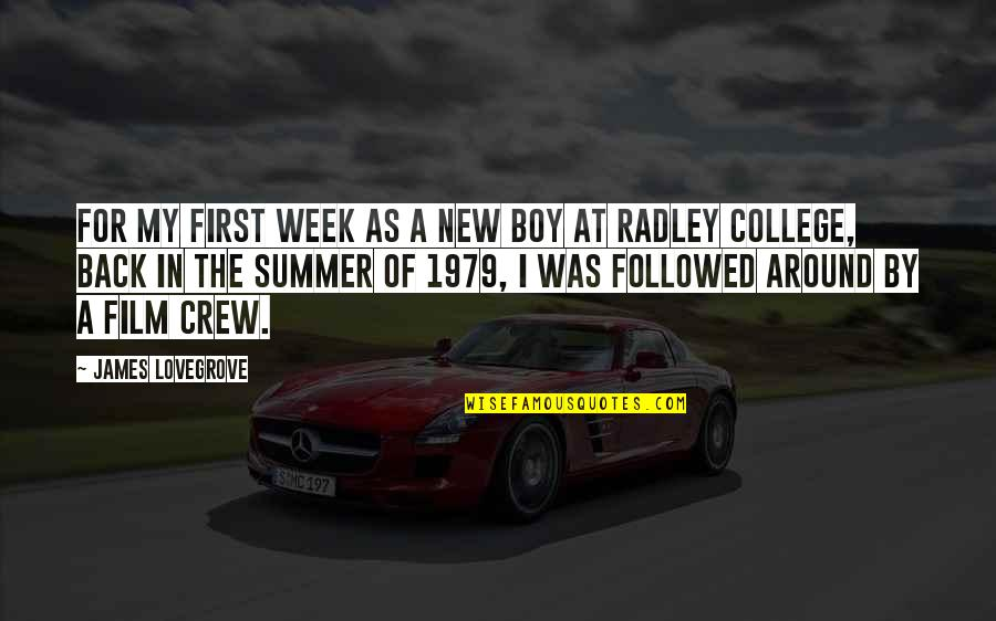 New Week Quotes By James Lovegrove: For my first week as a new boy