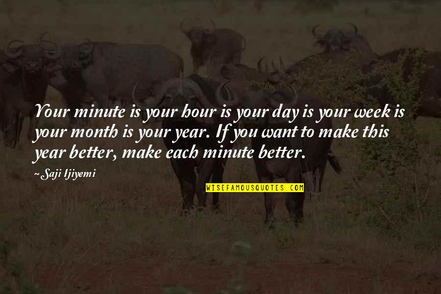 New Week Quotes By Saji Ijiyemi: Your minute is your hour is your day