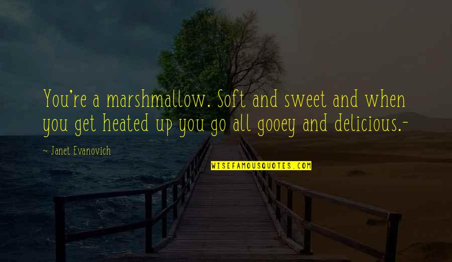 New York Carrie Bradshaw Quotes By Janet Evanovich: You're a marshmallow. Soft and sweet and when