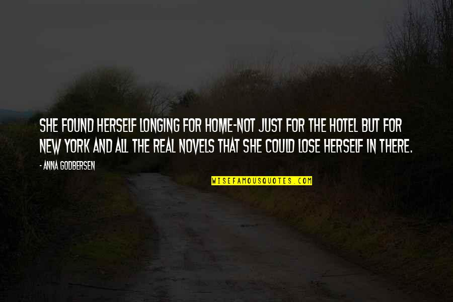 New York From Books Quotes By Anna Godbersen: She found herself longing for home-not just for