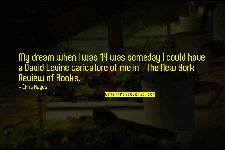 New York From Books Quotes By Chris Hayes: My dream when I was 14 was someday