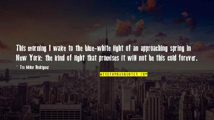 New York Spring Quotes By Tre Miller Rodriguez: This morning I wake to the blue-white light