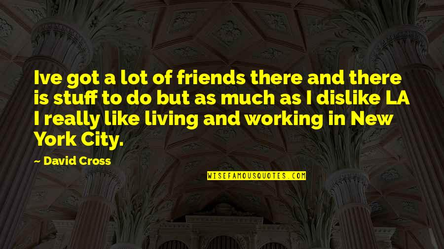 New York Vs La Quotes By David Cross: Ive got a lot of friends there and