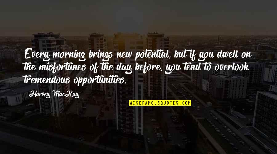 New You Quotes By Harvey MacKay: Every morning brings new potential, but if you