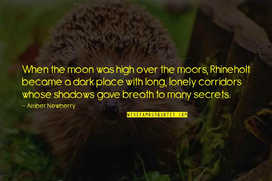 Newberry Quotes By Amber Newberry: When the moon was high over the moors,