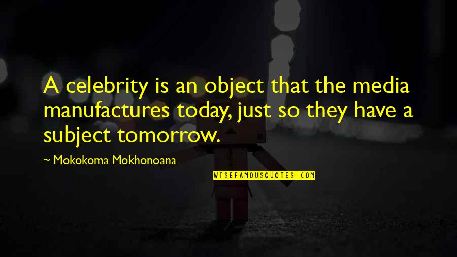 News On Tv Quotes By Mokokoma Mokhonoana: A celebrity is an object that the media
