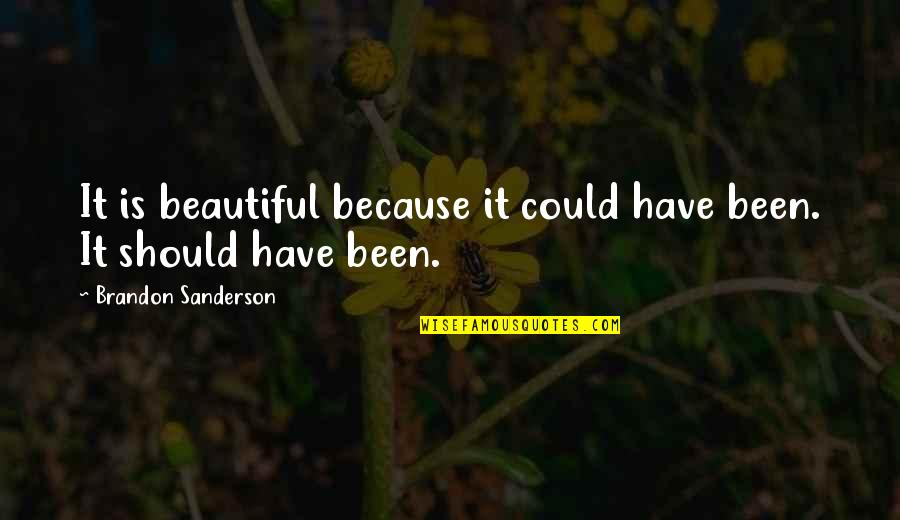 Ngiti Banat Quotes By Brandon Sanderson: It is beautiful because it could have been.