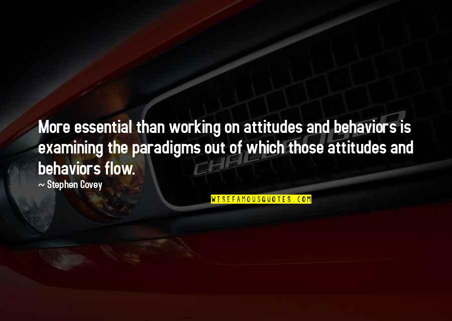 Niaaa Quotes By Stephen Covey: More essential than working on attitudes and behaviors