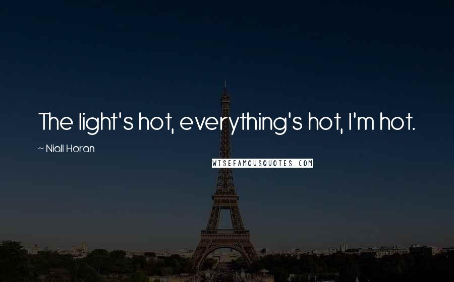Niall Horan quotes: The light's hot, everything's hot, I'm hot.