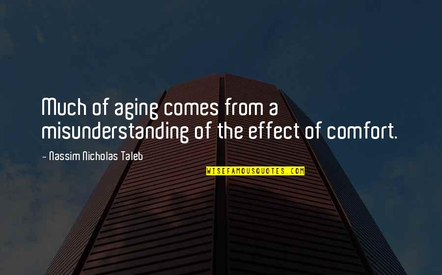 Nicholas O'flaherty Quotes By Nassim Nicholas Taleb: Much of aging comes from a misunderstanding of
