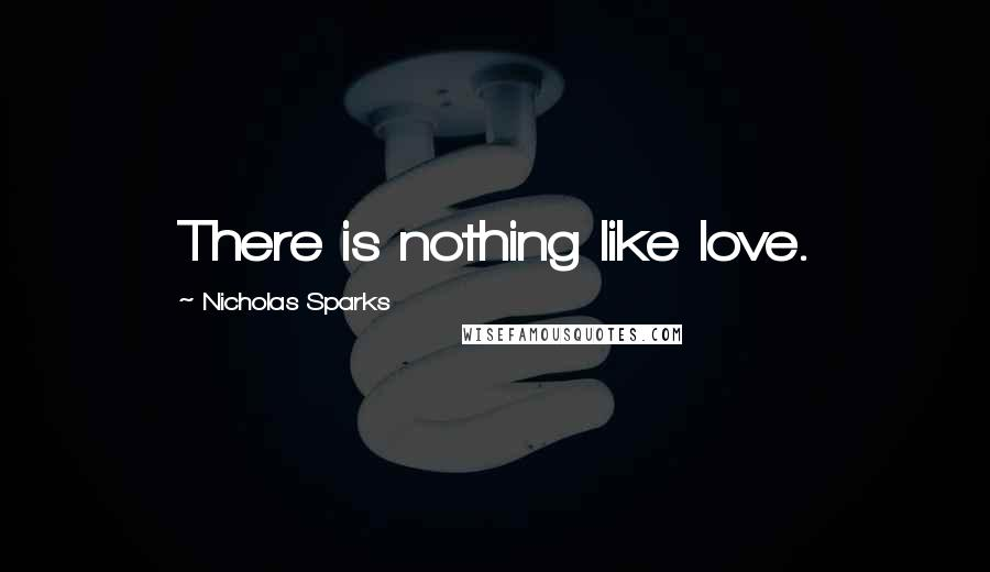 Nicholas Sparks quotes: There is nothing like love.