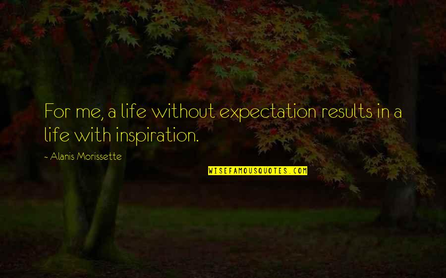 Nick And Offred Quotes By Alanis Morissette: For me, a life without expectation results in