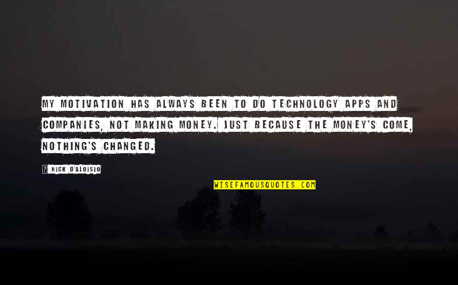 Nick Quotes By Nick D'Aloisio: My motivation has always been to do technology