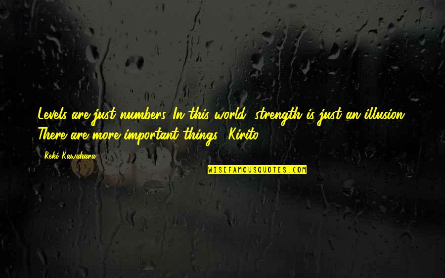 Nicole Hiyala And Chris Tsuper Quotes By Reki Kawahara: Levels are just numbers. In this world, strength