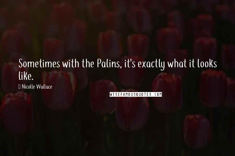 Nicolle Wallace quotes: Sometimes with the Palins, it's exactly what it looks like.